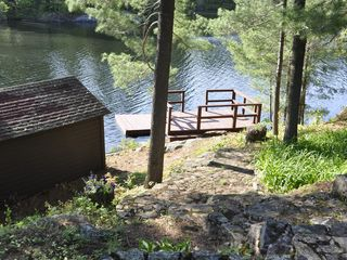 Edwards cabin photo - Incredible Views from the Deck, Dock, and Boathouse in a Peaceful, Tranquil Bay.