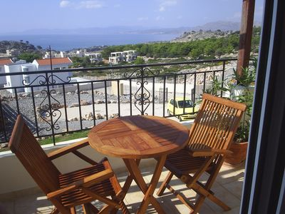 sea view balconies/tables & chairs