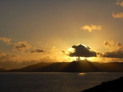 East End condo rental - Enjoy the Sunrises over St John. Photo taken on private Ocean View deck!