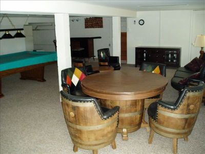 Recreation room with pool table.