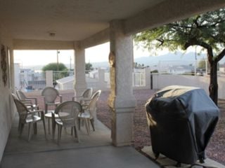 Lake Havasu City house photo - Back patio with Propane BBQ, 8 chairs and coffee table