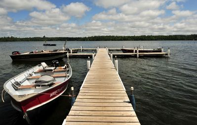 Marcell cabin rental - North Star Lake is a beautiful lake. Notice the swim raft! Very FUN!