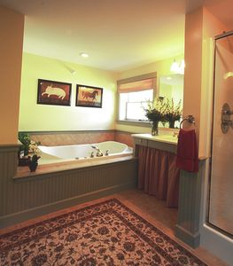 North Conway house rental - The Summit Bath with Jacuzzi and Separate Multi-Jet Shower