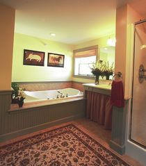 North Conway house photo - The Summit Bath with Jacuzzi and Separate Multi-Jet Shower