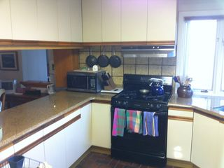 Granite counters, gas stove/oven, fully equipped gourmet kitchen with water view
