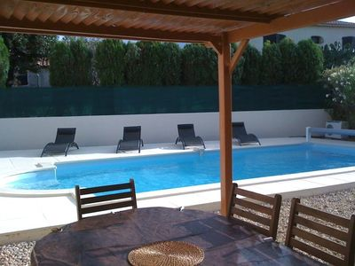 Family home with brand new pool - close to village centre and port