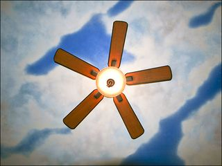 Venice Beach apartment photo - Bedroom Ceiling: Blue-Sky with Fan