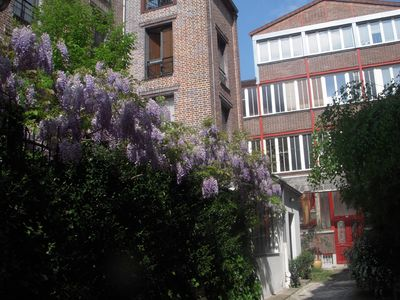 The alley and view on the building