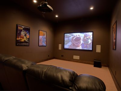 Watch movies, games, and TV in the media room