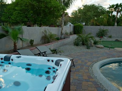 Spa and Backyard