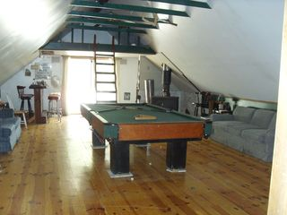 Moultonborough cottage photo - Game room /9ft pool table/ wide screen TV/ 3 sofas/loft and DECK OFF ROOM