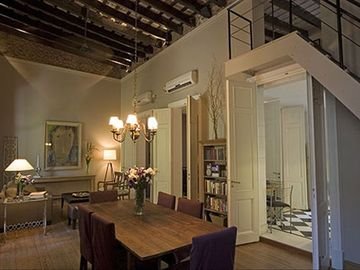 Recoleta apartment rental - Living dining room and doorway to kitchen