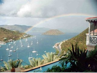Tortola villa photo - Rainbow over Sopers Hole From Limin' House