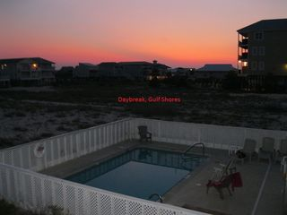 Gulf Shores house photo - Daybreak from Side B. NOTE - The pool is not ours. It is the neighbors'.