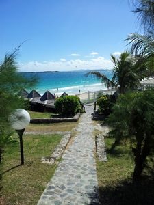 Path to Pool and Beach.