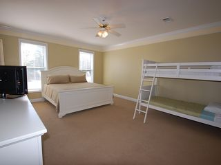 Fort Morgan property rental photo - King Master Suite on 1st Floor. Features:King & Bunk,Patio,Full Bath,Patio!!