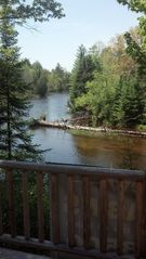 Grayling lodge photo - Summer from deck!