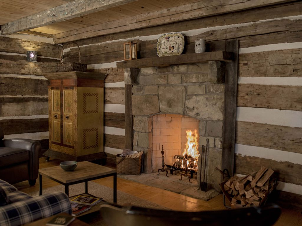 Hewn Log Cabin In Storybook Setting Vrbo