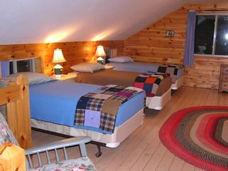 Newfound Lake house photo - Twin beds in sleeping loft