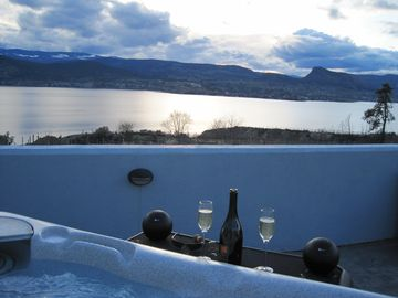 Bubbly in the Hot Tub