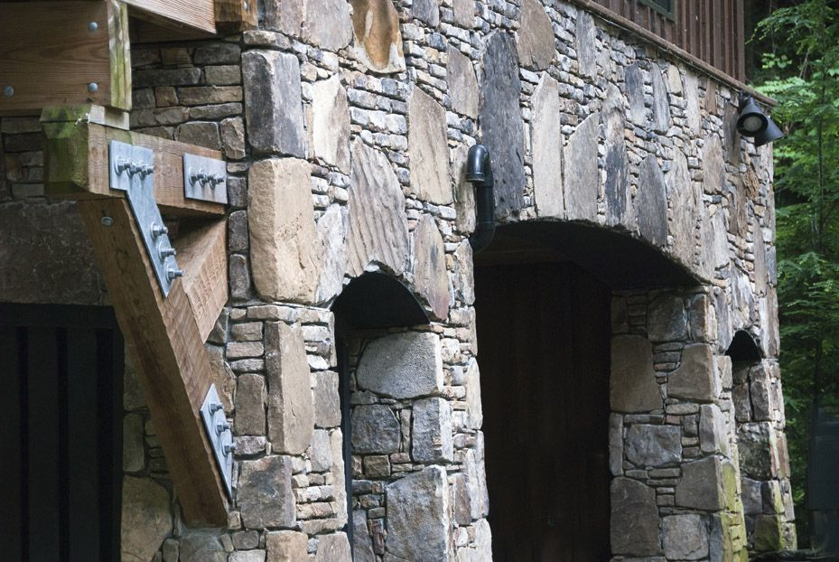 The Stonework on the Lodge is Beautiful thanks to our Artisans Eugene and Pat