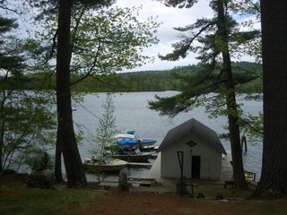 Waterfront w/boathouse and boatslips - Center Harbor cottage vacation rental photo