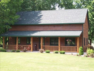 Fisherman 39 s dream log cabin vacation rental in wisconsin - Small log houses dream vacations wild ...