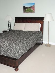 Queen serta bed with private bath