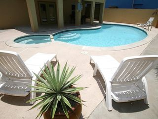 South Padre Island house photo - Large pool shared with only 2 units