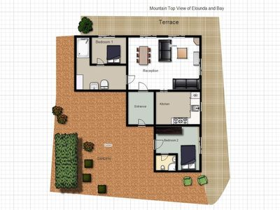 Elounda villa rental - Floor Plan