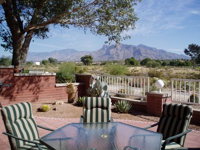 View of the Catalina Mountains from our patio
