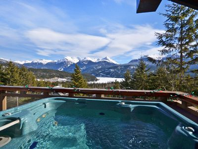 Very private hot tub-accessible from Master Bedroom and office-180 degree views!