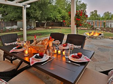 Los Olivos house rental - Enjoy leisurely dining or sit by the fire pit