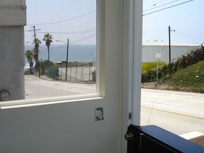 Ocean view from front door