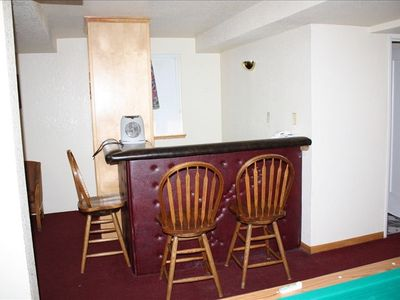 Country Club Estates estate rental - Wetbar in the game room, with a small fridgge