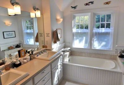 Master Bath Has Double Vanity, Soaking Tub, Separate Shower