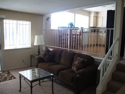 .family room with comfy seating.
