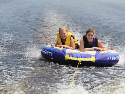 Bring or rent your own boat, making memories tubing or waterskiing.