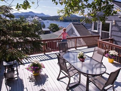 Enjoy the sweeping view from the Penthouse deck -w/ gas barbeque & seating for 6