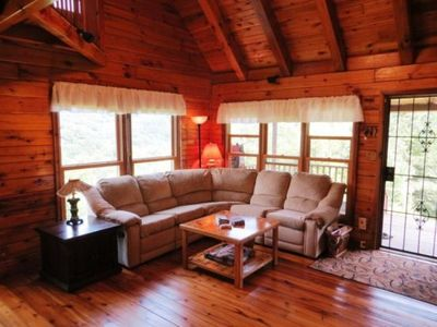 Mountain Lodge Realty Moonshine Ridge Living Room with wonderful views
