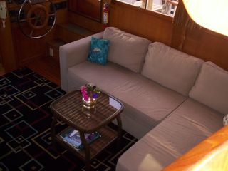 Boston yacht photo - Couch turns into a full/queen sleeper sofa