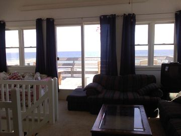 2nd floor family room and deck looking over ocean
