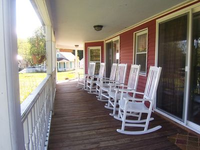 Bolton Landing farmhouse rental - Porch