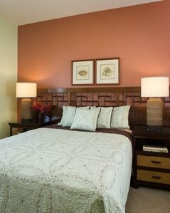 Queen guestroom on the main level exudes luxury