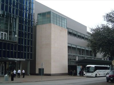 Austin condo rental - View of Austin Convention Center taken from corner entrance of the building