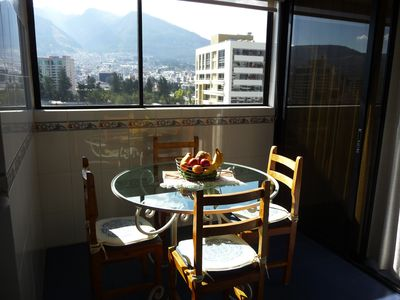Quito condo rental - Breakfast Nook w/ Great View!