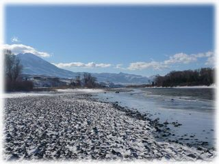 Livingston house photo - A winter view of the Yellowstone River right in front of the home