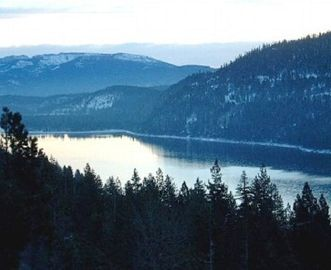 Donner Lake house rental - Donner Lake in Winter, from Scenic Overlook