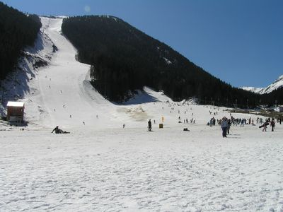 Black run on top of the gondola