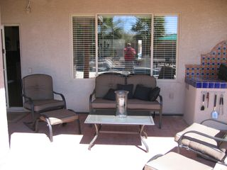 Tucson house photo - Seating area on covered patio